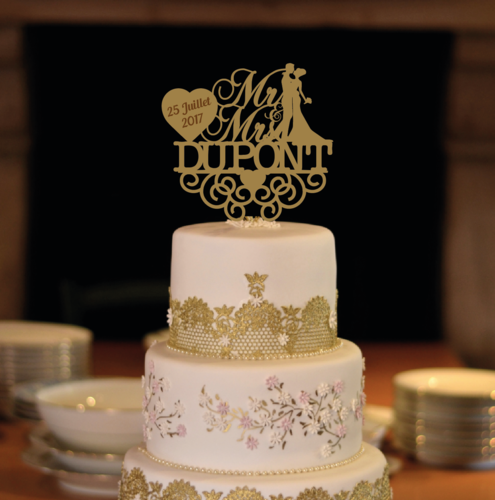 CAKE TOPPER MARIAGE
